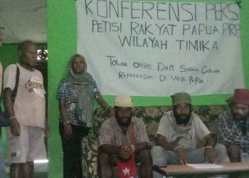 Saat Konferensi Pers Petisi Rakyat Papua Wilayah Timika