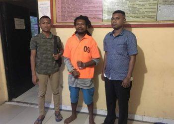Foto Saat Naftali Tipagau di Tahanan Polda Papua